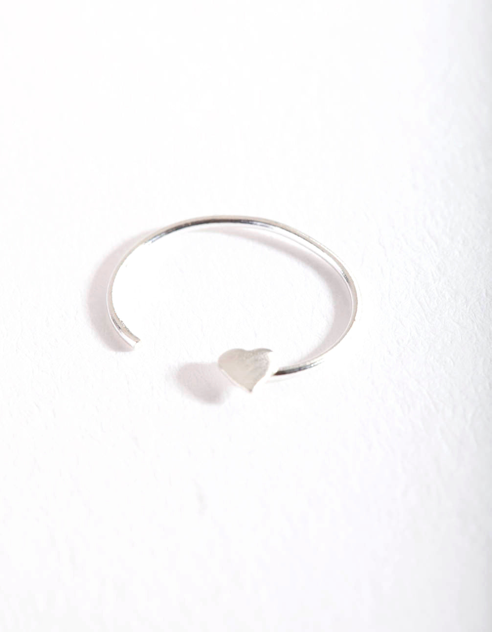 Sterling Silver Heart Nose Ring