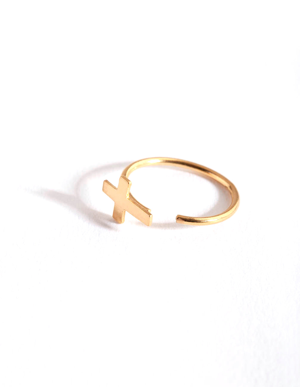 Gold Plated Large Cross Nose Ring