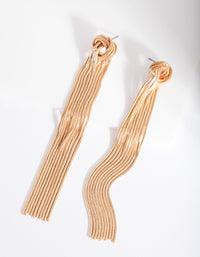 Gold Knot Snakechain Earring - link has visual effect only