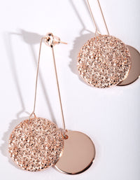 Rose Gold Double Disc Drop Earring - link has visual effect only