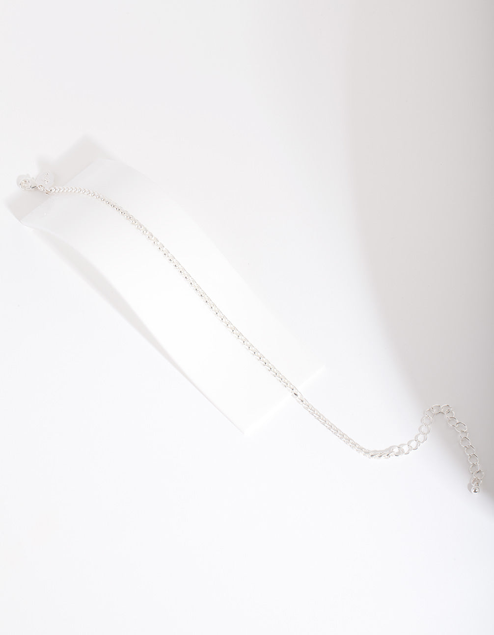 Silver 3mm Wheat Chain Anklet