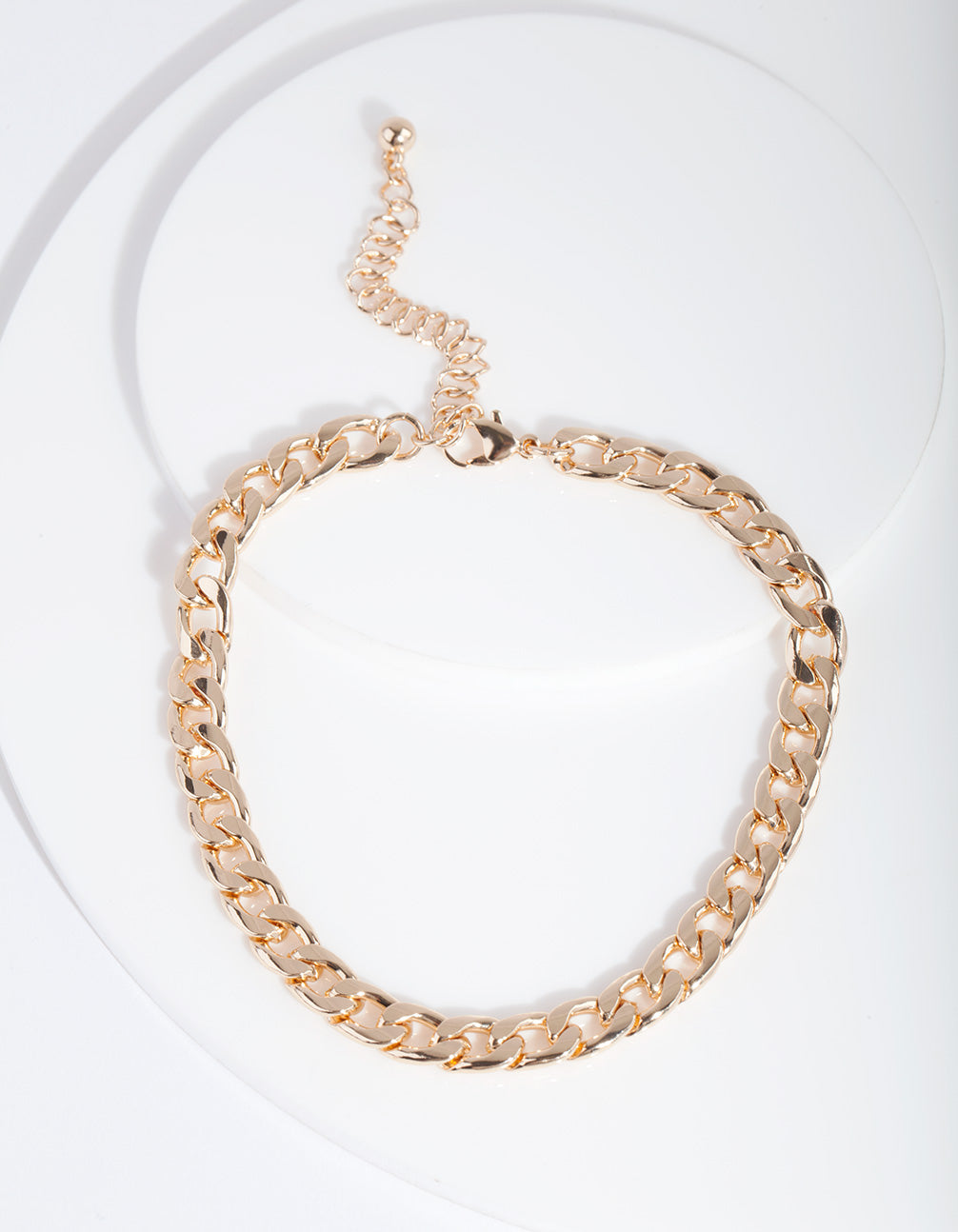 Gold 7mm Cuban Chain Anklet