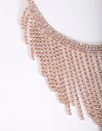 Rose Gold Fringe Choker Necklace - link has visual effect only