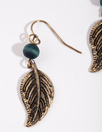 Antique Gold Leaf & Ball Drop Earring - link has visual effect only