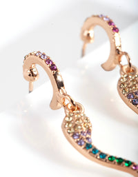 Gold Diamante Snake Huggie Earrings - link has visual effect only