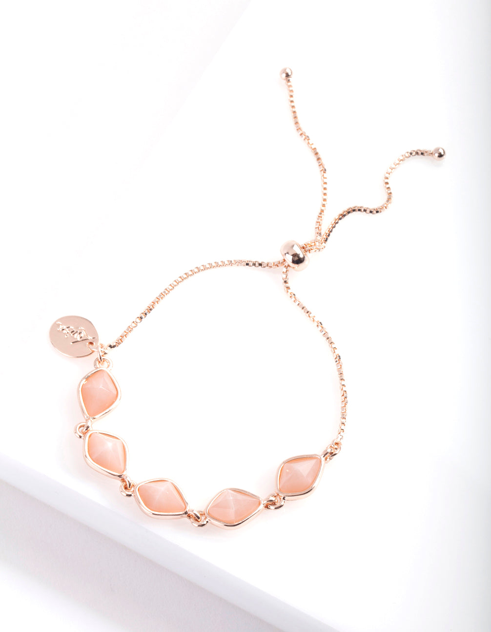 Rose Gold Organic Stonne Toggle Bracelet