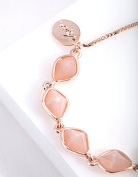 Rose Gold Organic Stonne Toggle Bracelet - link has visual effect only
