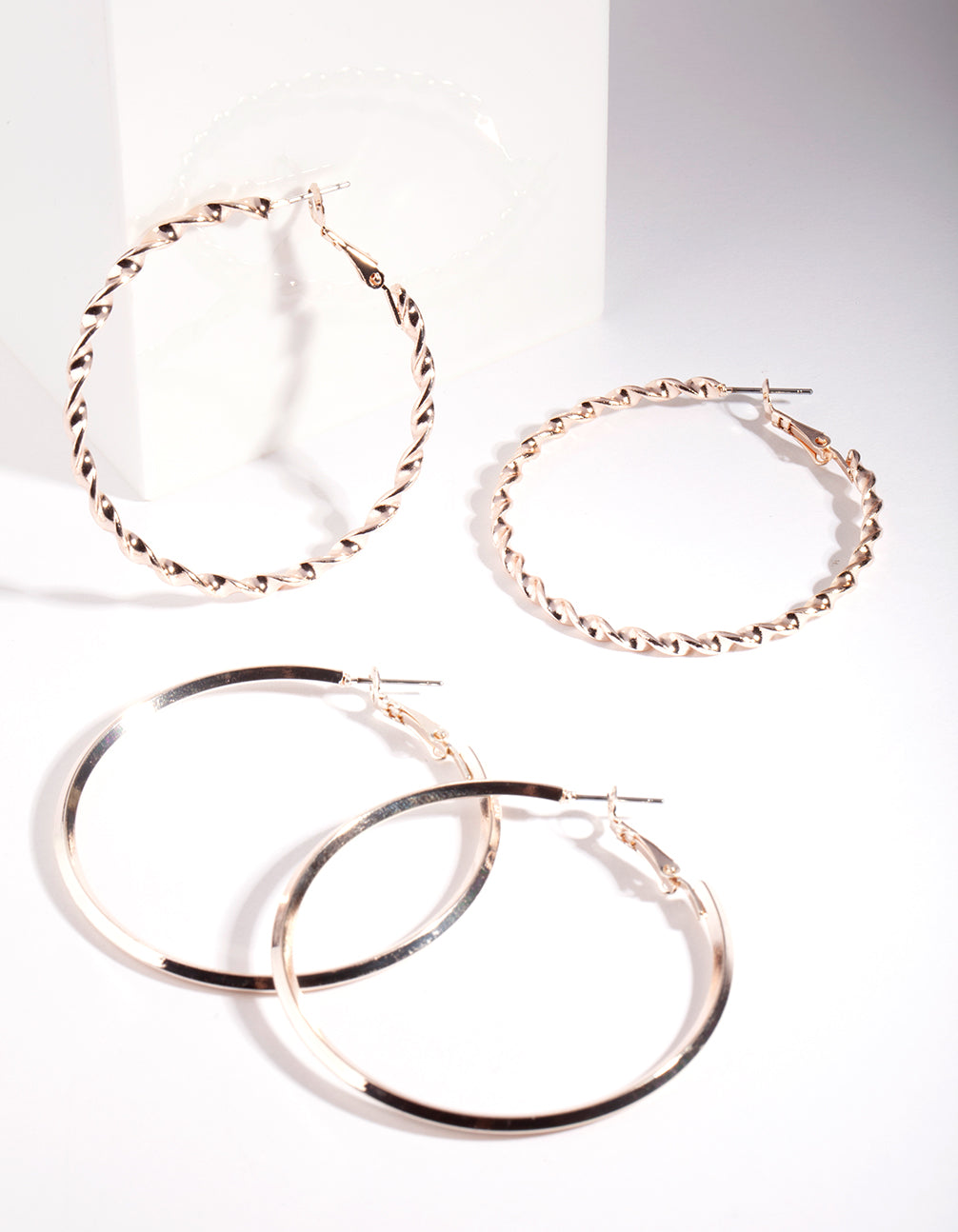 Rose Gold Ultimate Hoop Earring 2 Pack