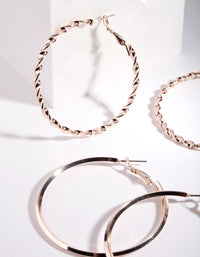 Rose Gold Ultimate Hoop Earring 2 Pack - link has visual effect only