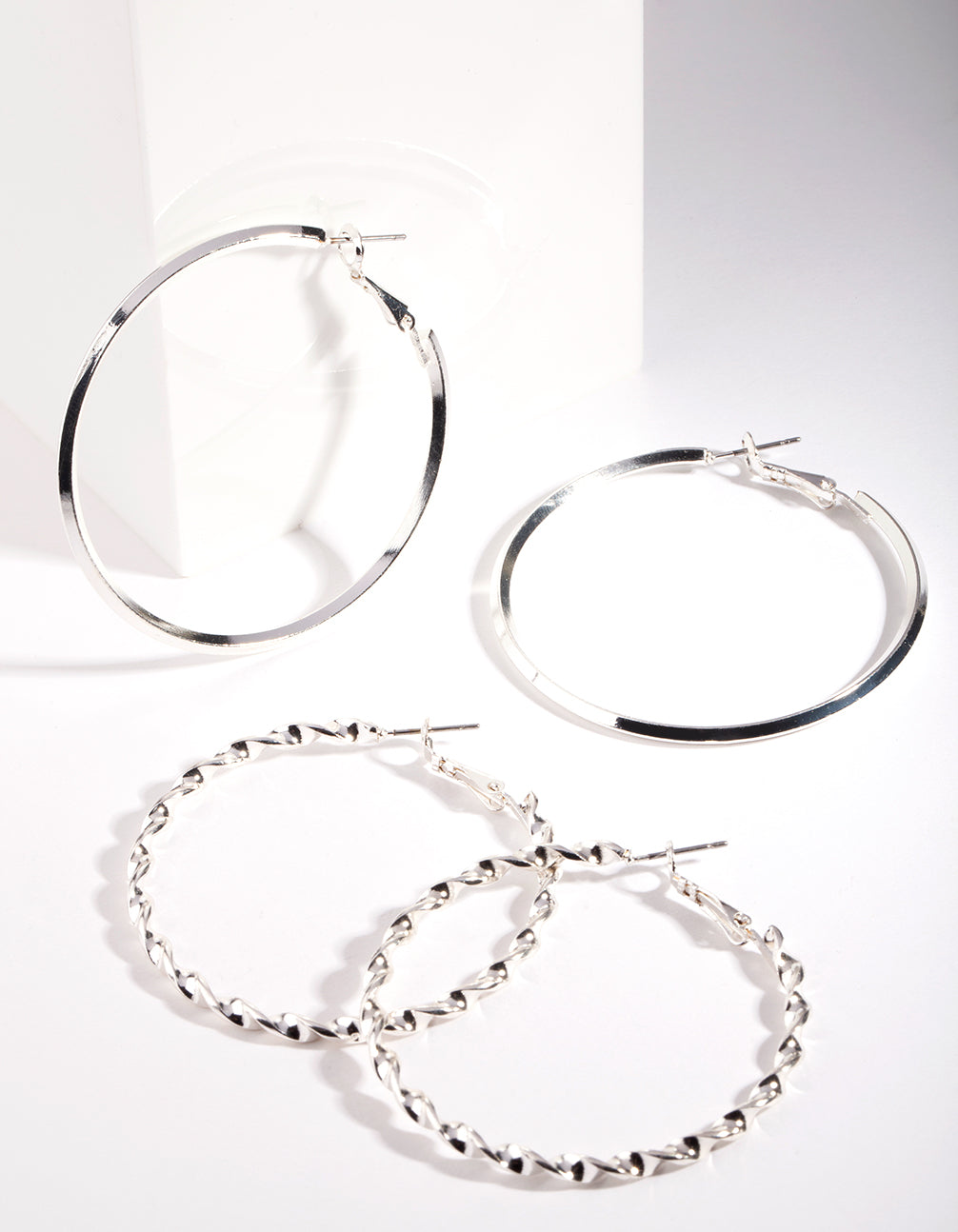 Silver Ultimate Hoop Earring 2 Pack