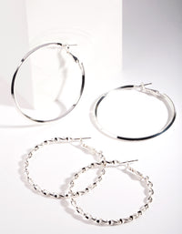 Silver Ultimate Hoop Earring 2 Pack - link has visual effect only