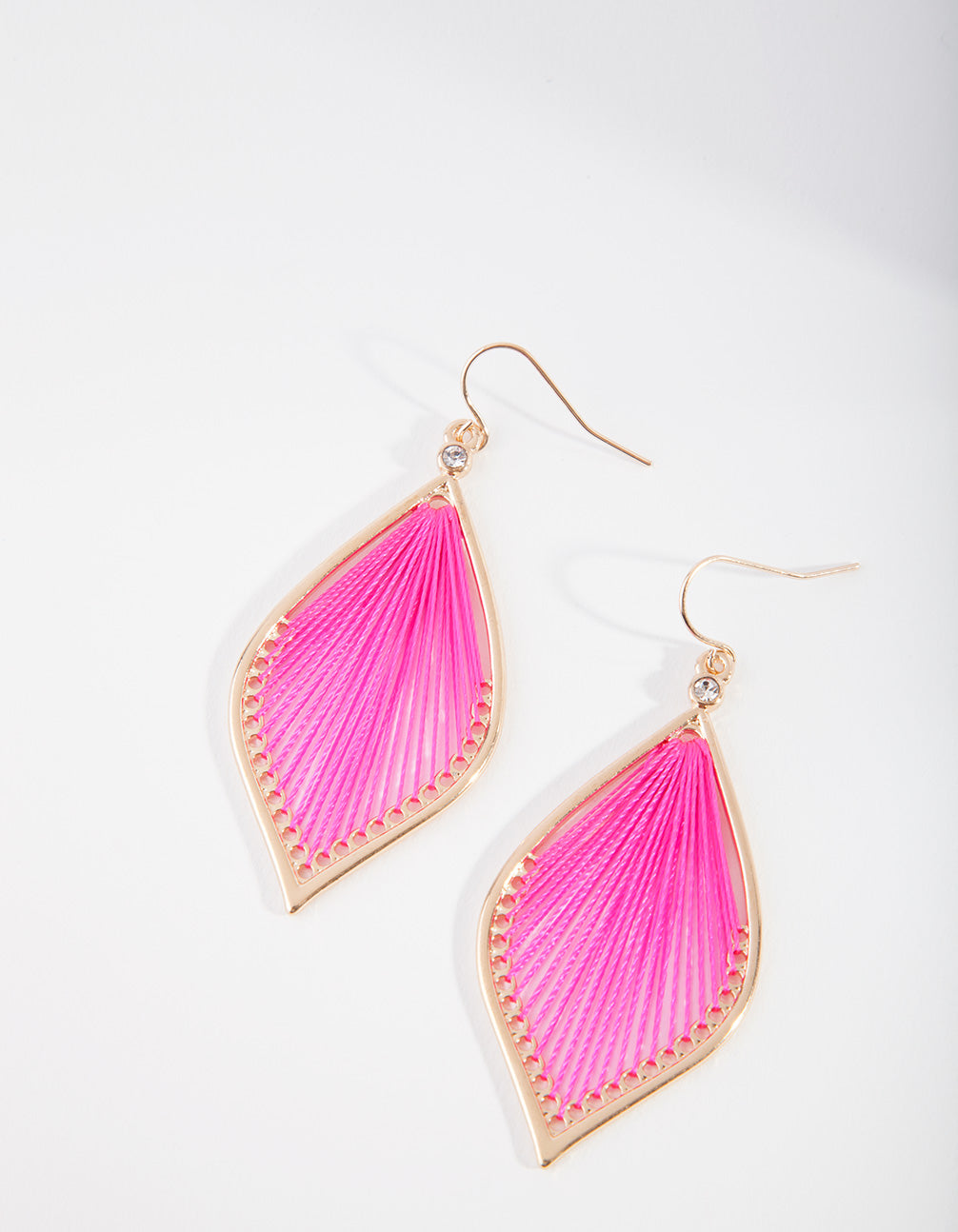 Fuchsia Harp Drop Earring