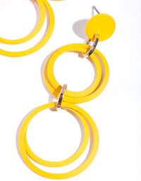 Gold Multi Circle Earring - link has visual effect only