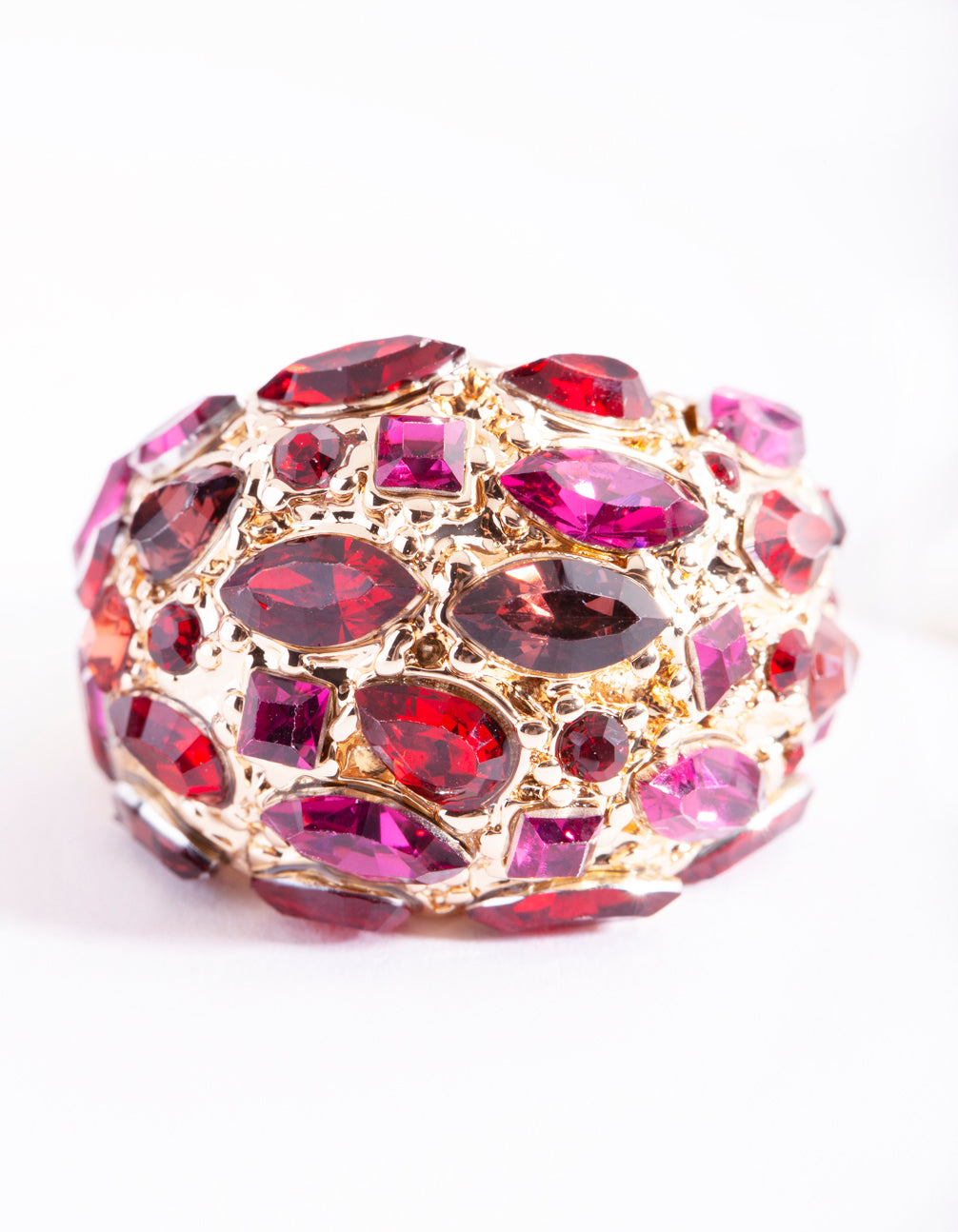 Pink Gem Crated Bubble Ring