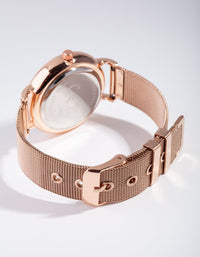 Rose Gold Garden Face Mesh Strap Watch - link has visual effect only