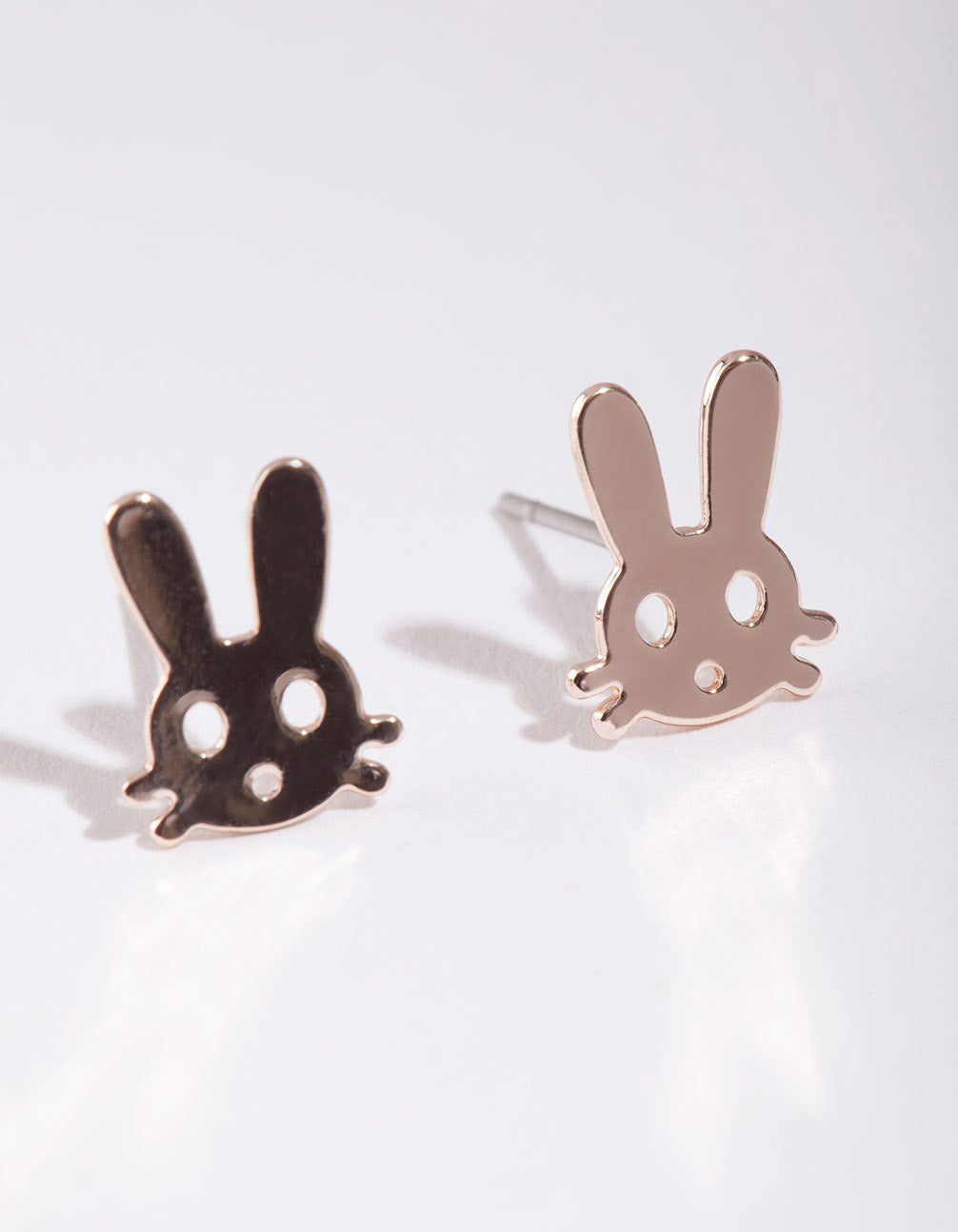 Rose Gold Bunny Stud Earring
