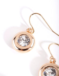 Gold Circle Swarovski Earring - link has visual effect only