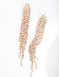 Gold Diamante Cupchain Earring - link has visual effect only
