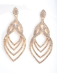 Gold Layered Tiered Drop Earring - link has visual effect only