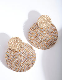 Gold Diamante Disc Earring - link has visual effect only