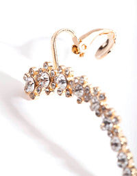 Gold Flower Double Cuff Earring - link has visual effect only