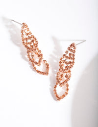 Rose Gold Mini Graduating Loop Cupchain Earring - link has visual effect only