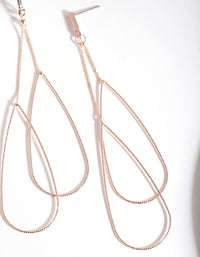 Rose Gold Double Teardrop Earring - link has visual effect only