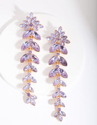 Lilac Cascading Navette Earring - link has visual effect only
