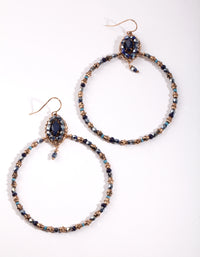 Gold Beaded Open Cirlce Earring - link has visual effect only