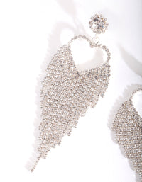 Silver Cupchain Heart Drop Earring - link has visual effect only