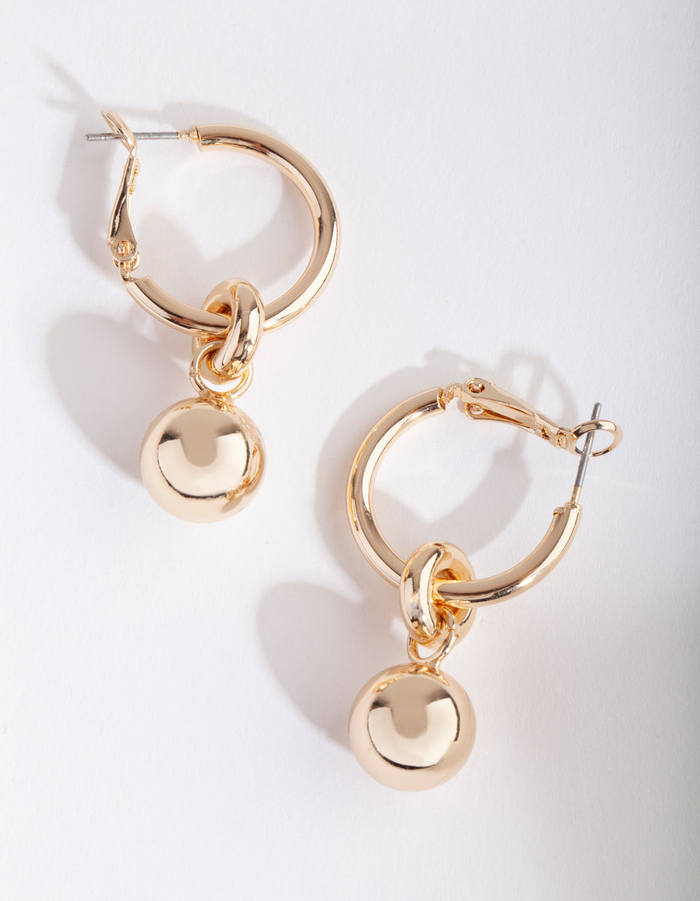Gold Chunky Ball Hoop Earring