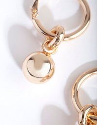 Gold Chunky Ball Hoop Earring - link has visual effect only