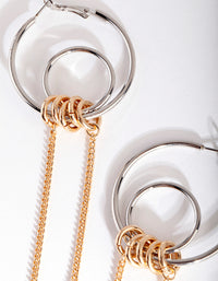 Mixed Metal Double Loop Chain Earring - link has visual effect only