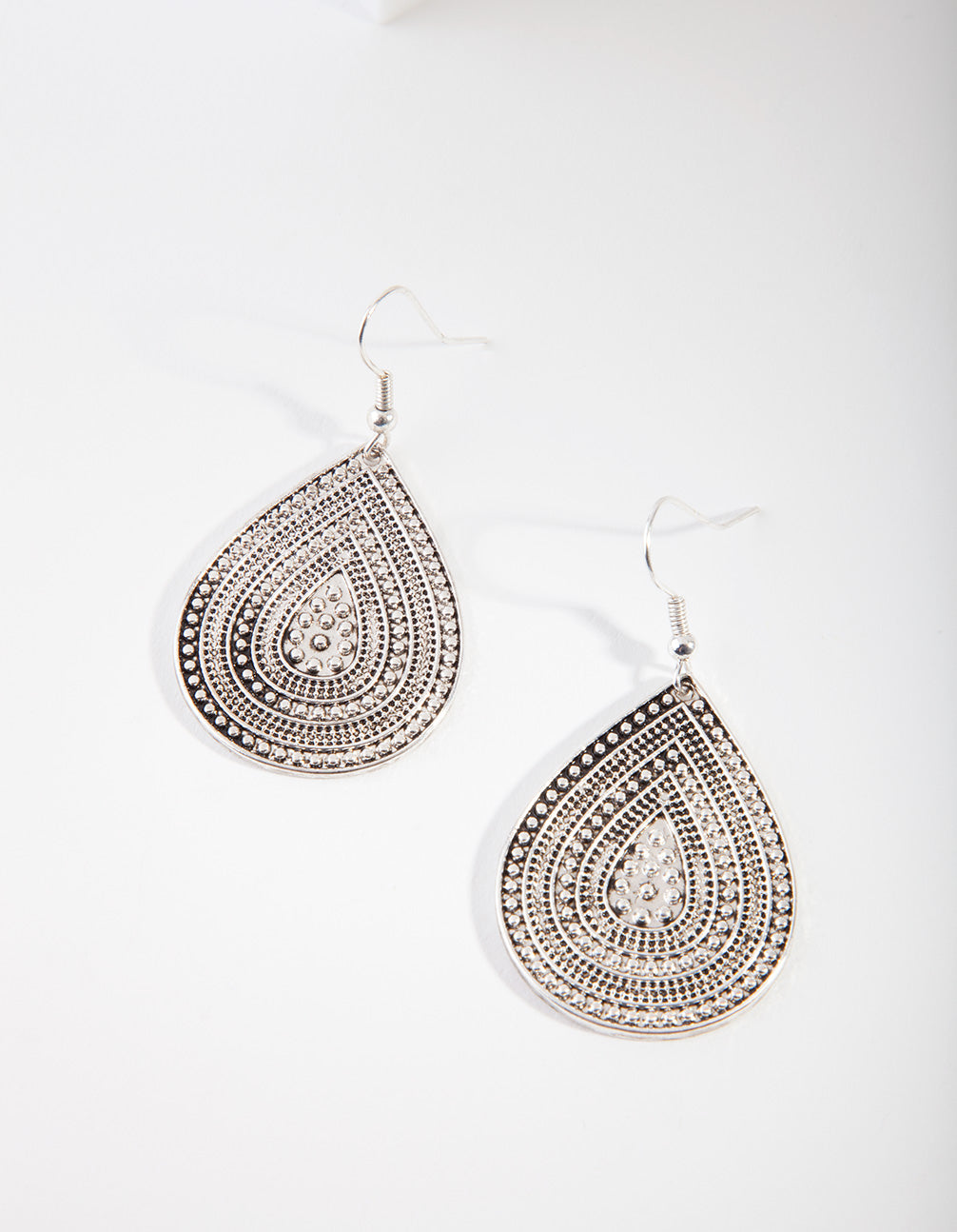 Antique Silver Teardrop Earring