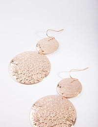 Gold Boho Oversized Disc Earring - link has visual effect only