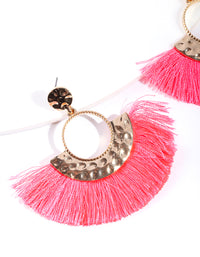 Shiny Gold Circle Fringe Drop Earring - link has visual effect only