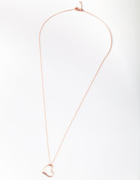 Rose Gold Plated Sterling Silver Open Heart Necklace - link has visual effect only