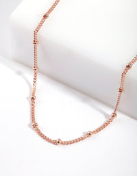 Rose Gold Plated Sterling Silver Satellite Choker Necklace - link has visual effect only