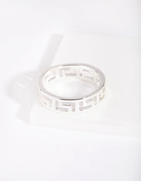 Silver Geometric Ring - link has visual effect only