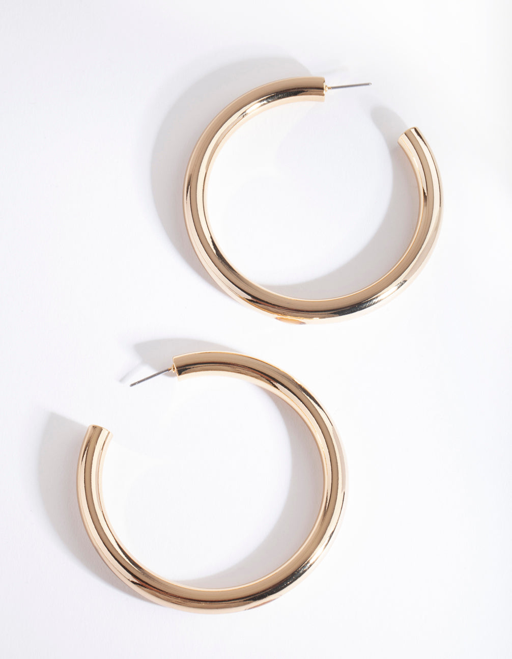 Real Gold Plated Large Open Hoop Earring