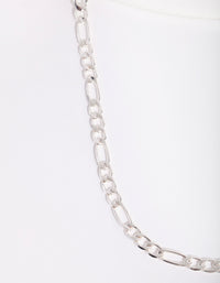 Real Silver Plated Figaro Chain Necklace - link has visual effect only