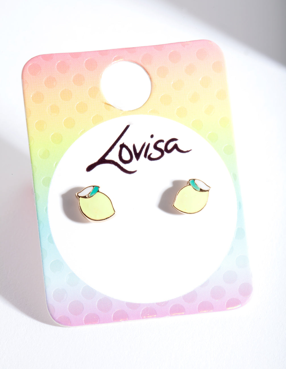 Kids Gold Lemon Stud Earring