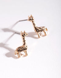 Kids Gold Giraffe Earring - link has visual effect only
