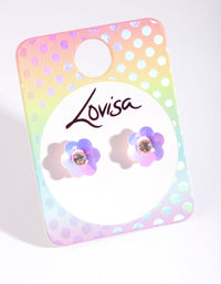 Kids Plastic Sequin Flower Stud Earrings - link has visual effect only