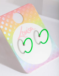 Kids Fluro Green Hoop Earring - link has visual effect only