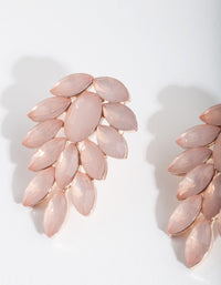 Rose Gold Jewel Leaf Earring - link has visual effect only