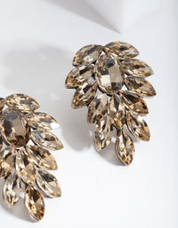 Antique Gold Jewel Leaf Earring - link has visual effect only