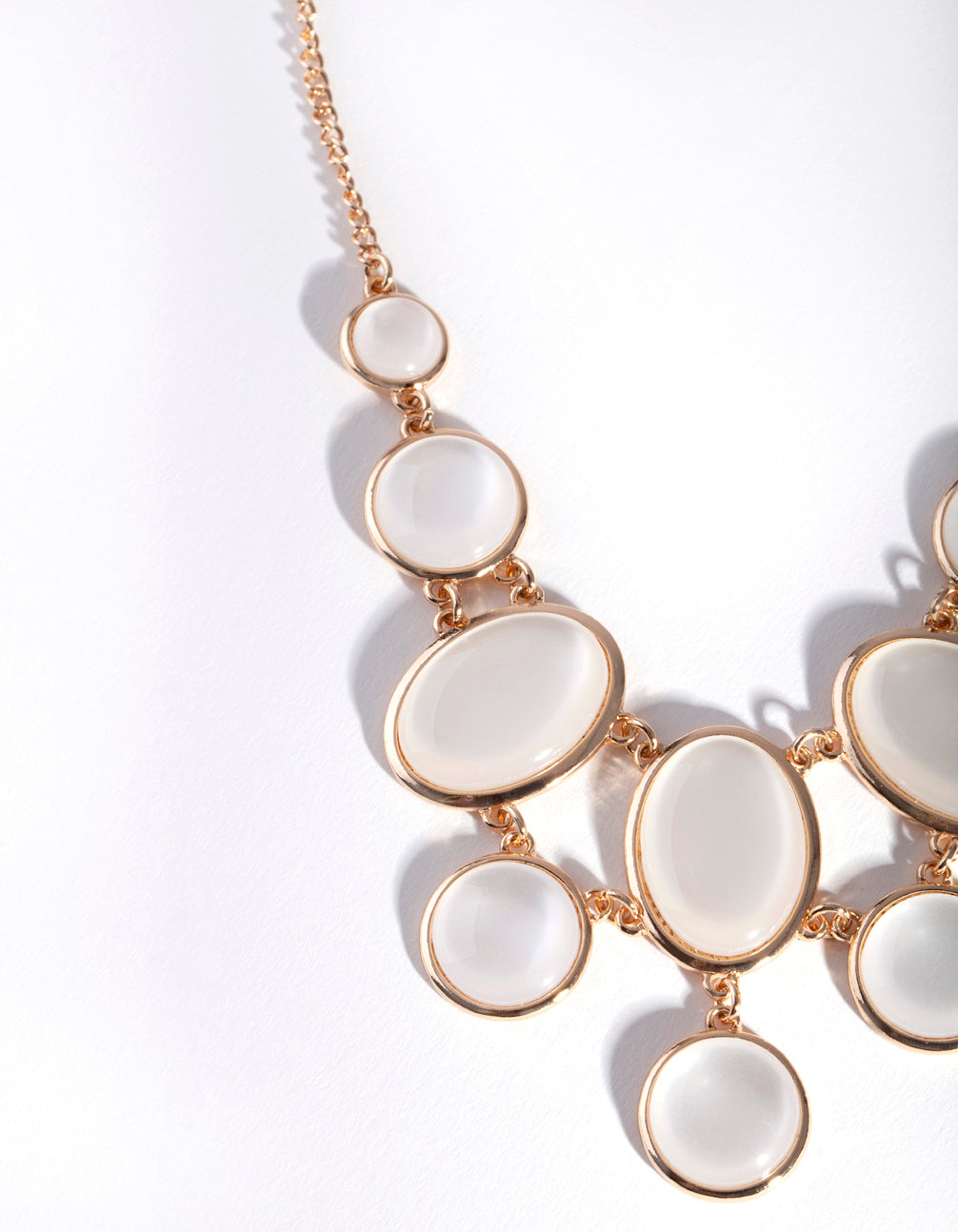 Gold Oval Catseye Necklace