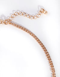 Gold Oval Catseye Necklace - link has visual effect only