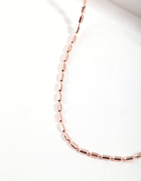 Rose Gold Plated Sterling Silver Bead Choker Necklace - link has visual effect only
